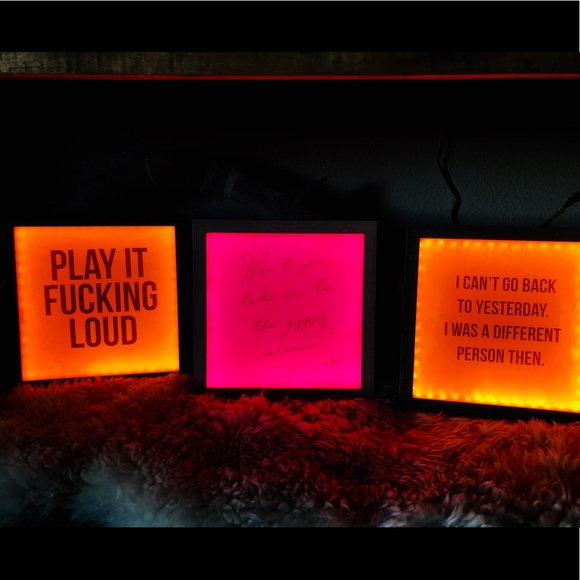 Honorable Citizens Other - (Customizable) LED neon sign light boxes 9x9